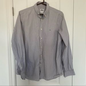 LACOSTE Men's 100% Cotton Button Down Shirt